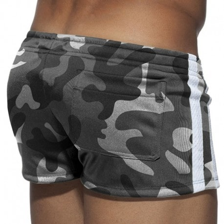Addicted Short Geoback Camouflage Gris