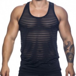 Andrew Christian Sheer Stripe Tank - Black