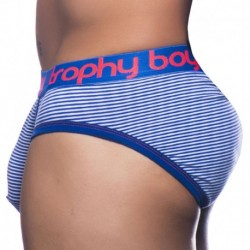 Andrew Christian Trophy Boy Brief - Navy - White