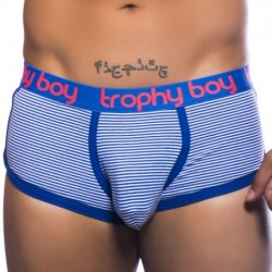 Andrew Christian Trophy Boy Boxer - Navy - White
