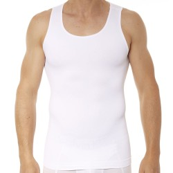 Zoned Performance Tank Top - White