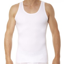 Spanx Cotton Compression Tank Top - White