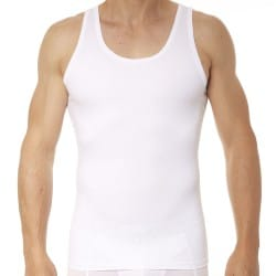 Cotton Compression Tank Top - White