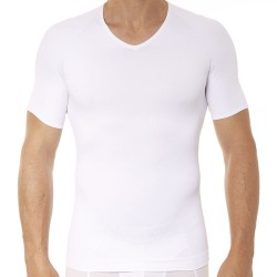 Zoned Performance V-Neck T-Shirt - White