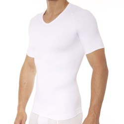 T-Shirt Zoned Performance Col V Blanc