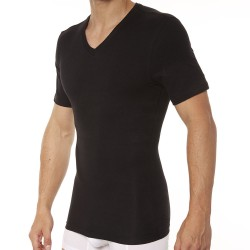 Spanx T-Shirt Cotton Compression Col V Noir