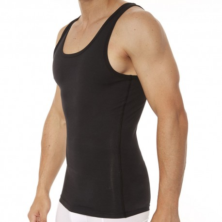 Spanx Cotton Compression Tank Top - Black