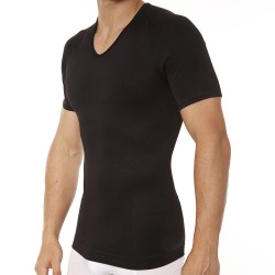 Spanx Zoned Performance V-Neck T-Shirt - Black