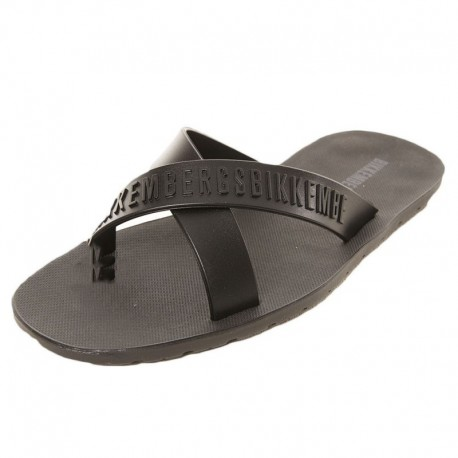 Bikkembergs Tape Crossed Flip Flops - Black