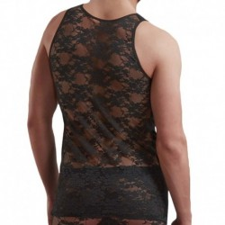 Doreanse Lace Tank Top - Black