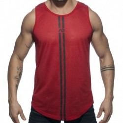 Double Stripe Tank Top - Red