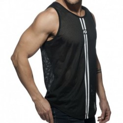 Double Stripe Tank Top - Black