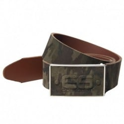 Camo Leather Belt - Khaki