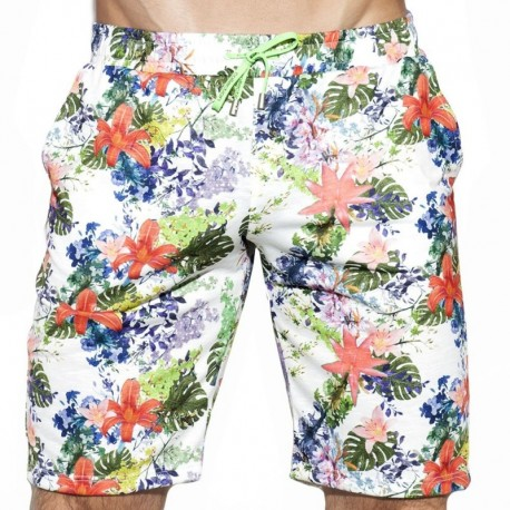ES Collection Bermuda Tropic Floral Blanc