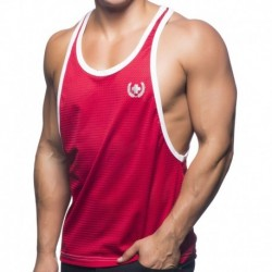 Soccer Mesh Tank Top - Red