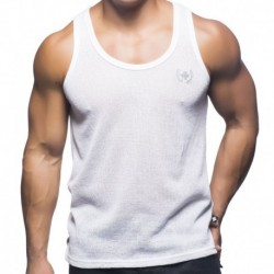 Mykonos Net Tank Top - White