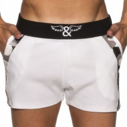 ELIU Camo Sports Short - White