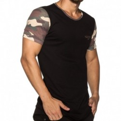 Camo T-Shirt - Black - Khaki