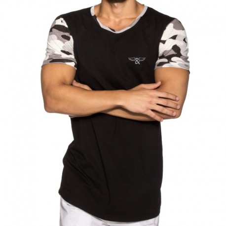 ELIU Camo T-Shirt - Black - Grey
