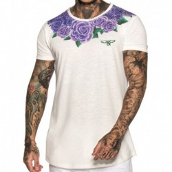 Roses Collar T-Shirt - White