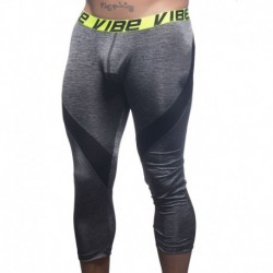 Vibe Sports & Workout Legging with Mesh - Heather