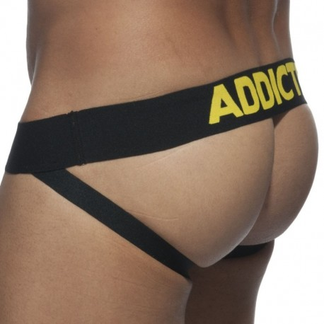 Addicted Jock Strap Basic Colors Jaune - Noir
