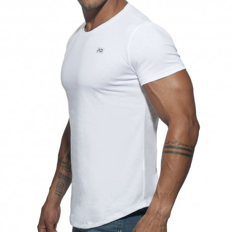 T-Shirt Basic U-Neck Blanc