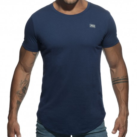 Basic U-Neck T-Shirt - Navy