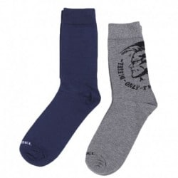 Diesel 2-Pack Mohawk Socks - Navy - Grey