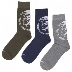 Diesel 3-Pack Mohawk Socks - Grey - Navy - Khaki
