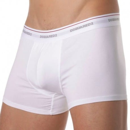 DSQUARED2 Lot de 3 Boxers Cotton Stretch Blancs