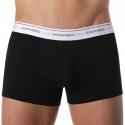 DSQUARED2 Lot de 3 Boxers Cotton Stretch Noirs
