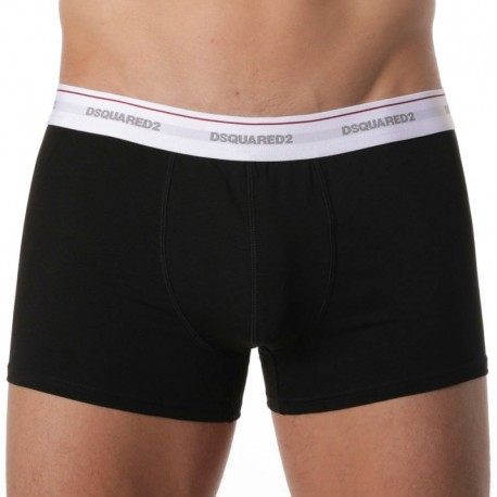 DSQUARED2 3-Pack Cotton Stretch Boxers - Black