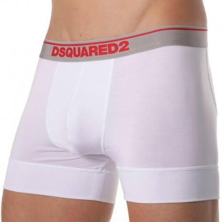 DSQUARED2 Lot de 2 Boxers Micromodal Blancs