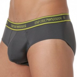 Emporio Armani Essential Microfiber Brief - Charcoal