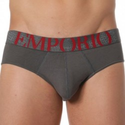 Emporio Armani Big Eagle Brief - Charcoal