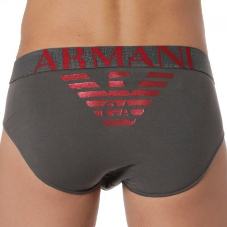 Emporio Armani Slip Big Eagle Anthracite