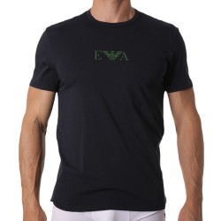 Emporio Armani Monogram T-Shirt - Navy - Green