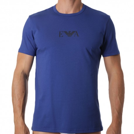 Emporio Armani Monogram T-Shirt - Royal