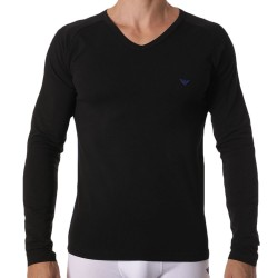 Emporio Armani Athletics Long-Sleeved T-Shirt - Black