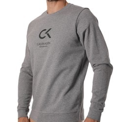 Calvin Klein Sweat-Shirt Logo CK Performance Gris