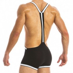 Modus Vivendi Fetish Singlet - Black - White
