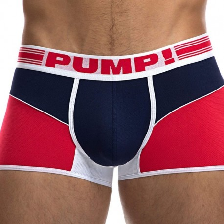 Pump! Academy Free-Fit Boxer - Red - Navy