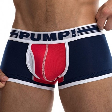 Pump! Academy Touchdown Boxer - Navy - Red