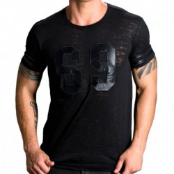 Andrew Christian Burnout Sixty-Nine T-Shirt - Black