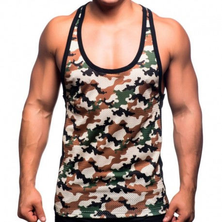 Andrew Christian Massive Mesh Tank Top - Camouflage