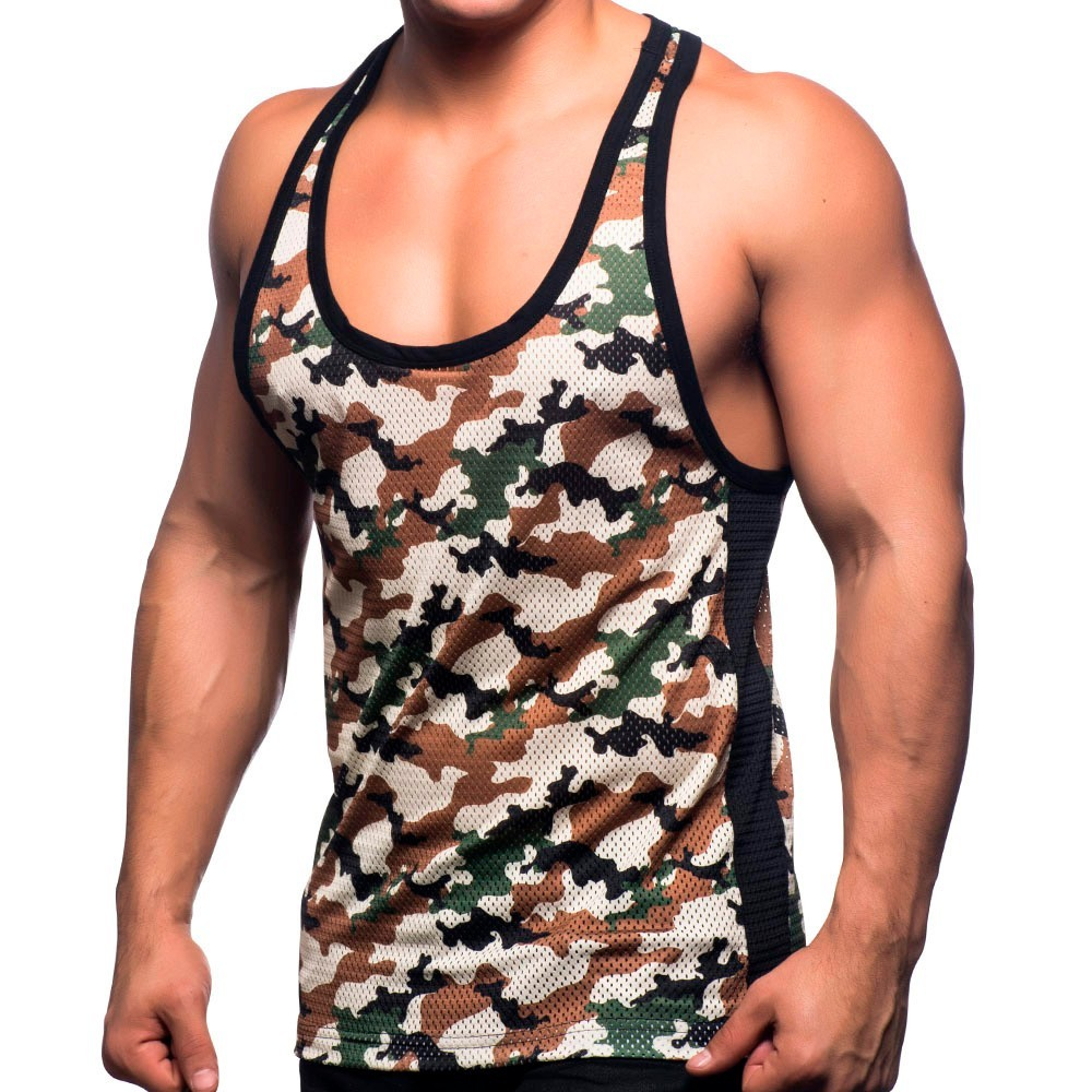 852c3610bee91 Andrew Christian Massive Mesh Tank Top - Camouflage