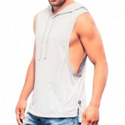 Andrew Christian Shimmer Gym Hoodie - Heather Grey