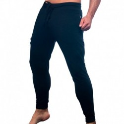 Andrew Christian Moto Jogger Pants - Black