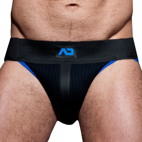 Rib Jock Strap - Black - Royal